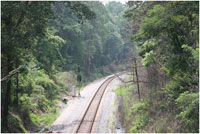 A train track at Kennesaw Mountain