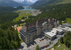 Hotel Suvretta House in St. Moritz, Switzerland where Bilderberg members met in June 2011