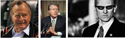 "George Bush Sr., Director of CIA when Jimmy Carter was President, and a man in ""a suit"" stopped President Carter's inquiries about UFO files."