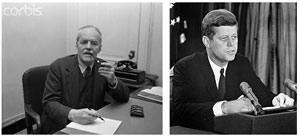 CIA Director Allen W. Dulles's denied President Kennedy access to UFO files.